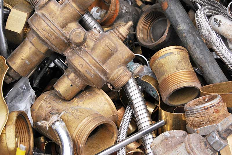 Brass scrap metal recycling Los Angeles