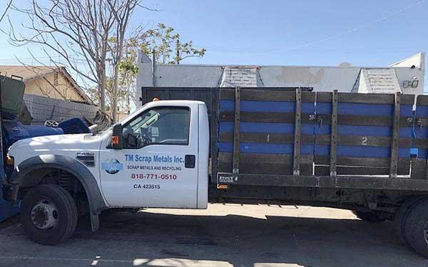 Burbank recycling center truck scrap metal