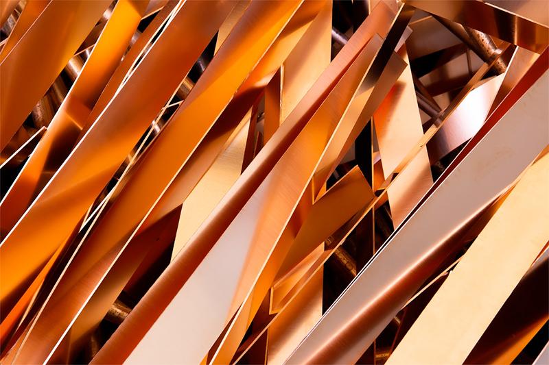 Scrap metal hardness test: copper