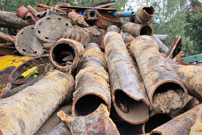Scrap metal recycling Los Angeles: pipes