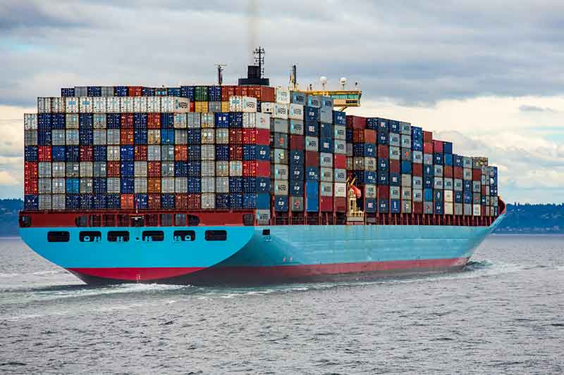 Japanese scrap metal export ship