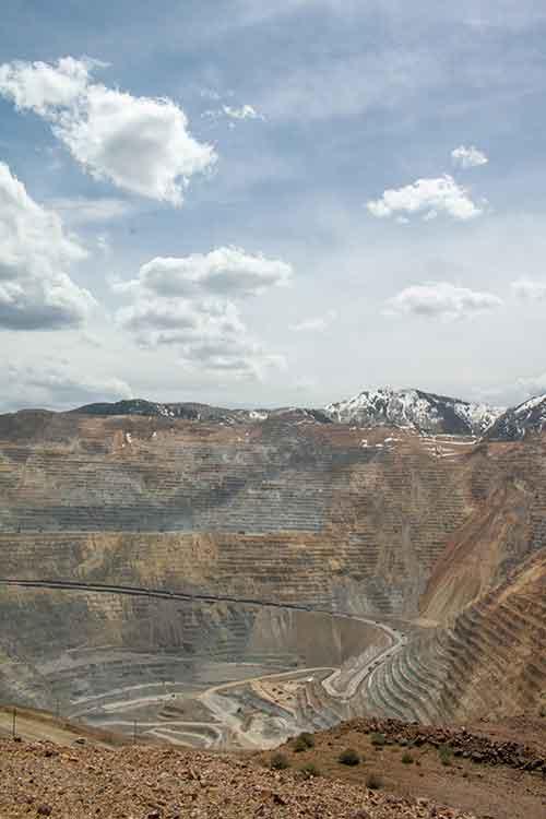Copper mine aerial view