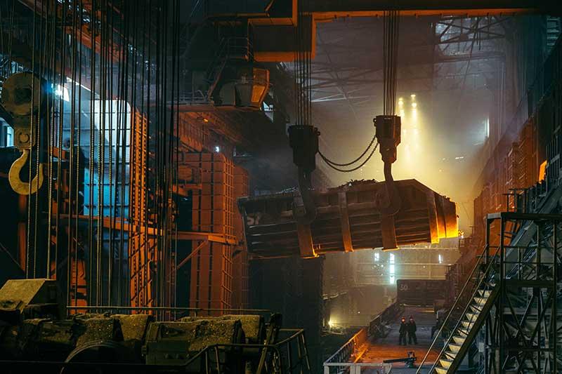 Steel mill using scrap metals