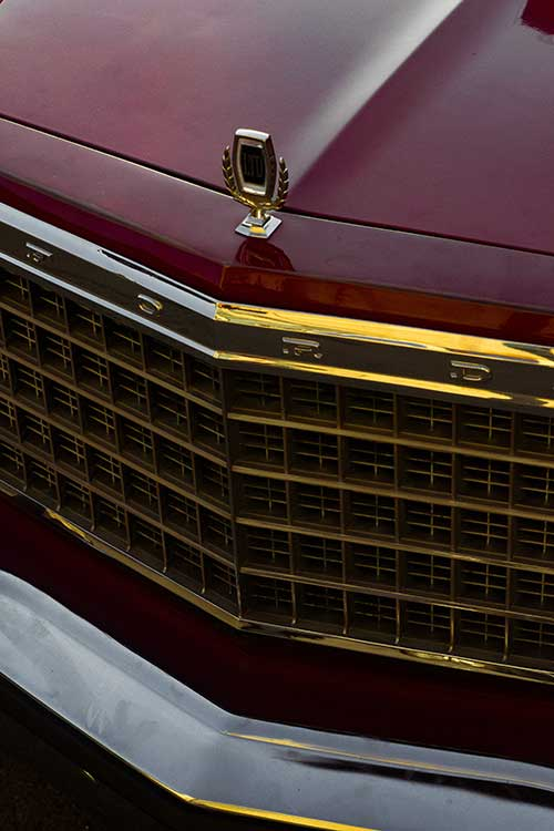 Los Angeles car grill with aluminum radiator to be recycled