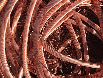 Bright and shiny copper wire